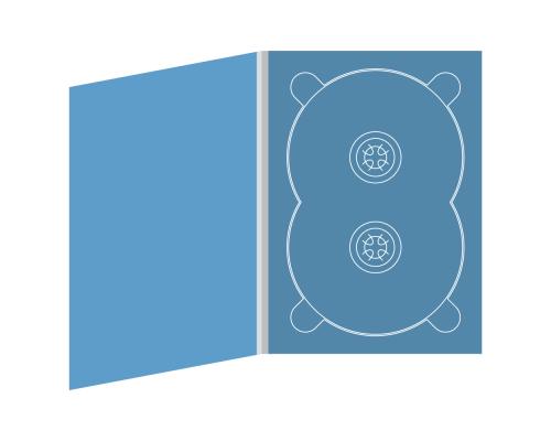 Digipack DVD 4 полосы 1 двойной трей (справа)
