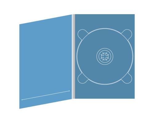 Digipack DVD 4 полосы 1 трей с прорезью для буклета (слева)