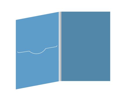 DigiFile DVD 4 полосы 1 прорезь (слева)