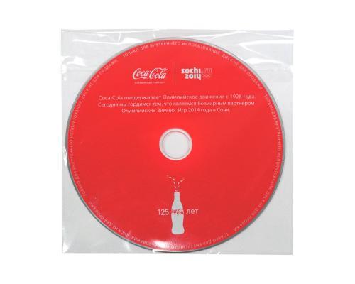 Пластиковый прозрачный конверт с клапаном. Coca Cola