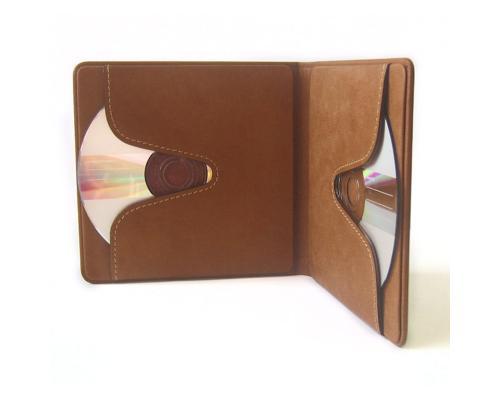 Skin Box на 2 диска из натуральной кожи