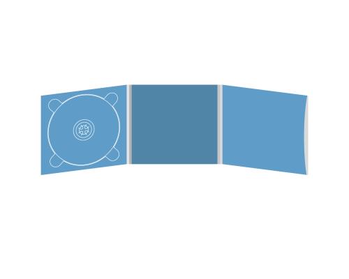 Digipack CD 6 полос 1 трей (слева) с рукавом для буклета (справа)