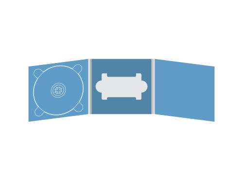 Digipack CD 6 полос 1 трей (слева) с вырезом под флешку (в центре)