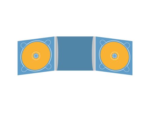 Digipack CD 6 полос 2 трея с рукавом для буклета (в центре)