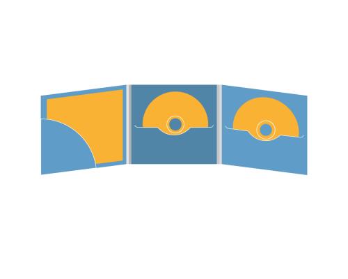 DigiFile CD 6 полос 2 прорези с карманом для буклета (скругленный, слева)
