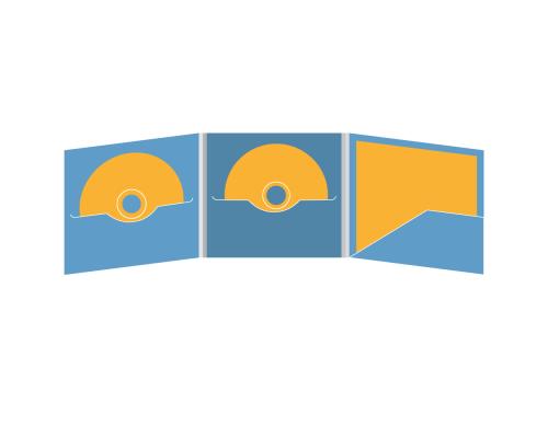 DigiFile CD 6 полос 2 прорези с карманом для буклета (справа)