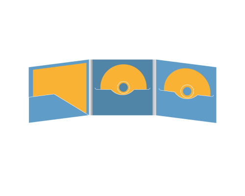 DigiFile CD 6 полос 2 прорези с прорезью для буклета (слева)