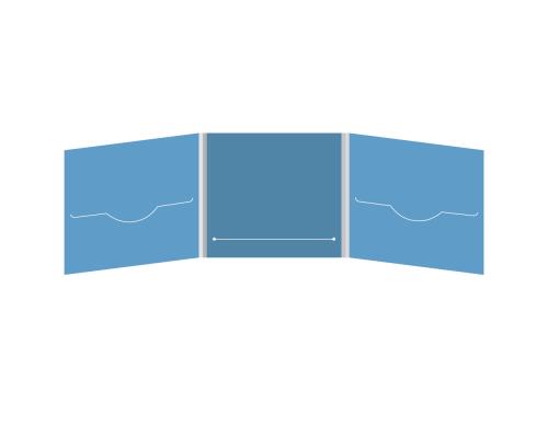 DigiFile CD 6 полос 2 прорези с прорезью для буклета (в центре)