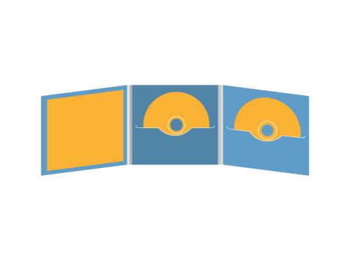 DigiFile CD 6 полос 2 прорези с буклетом (вклеенным) (слева)