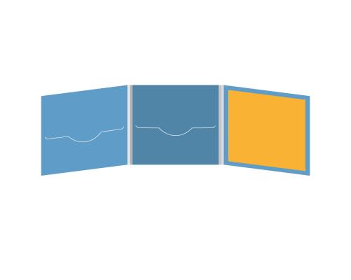 DigiFile CD 6 полос 2 прорези с буклетом (вклеенным, справа)