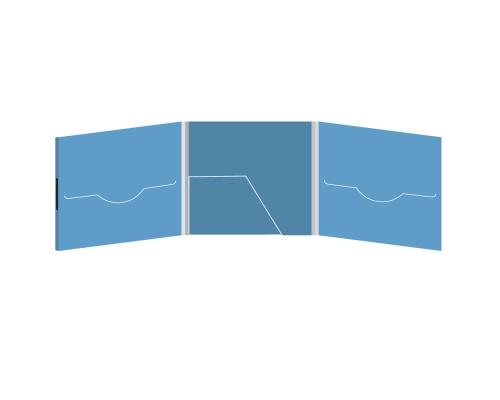 DigiFile CD 6 полос 2 прорези с карманом (в центре) на магните