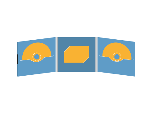 DigiFile CD 6 полос 2 прорези с вырезом для визитки (в центре) на магните