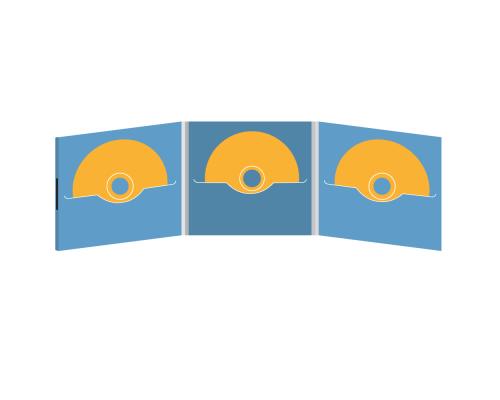 DigiFile CD 6 полос 3 прорези на магните