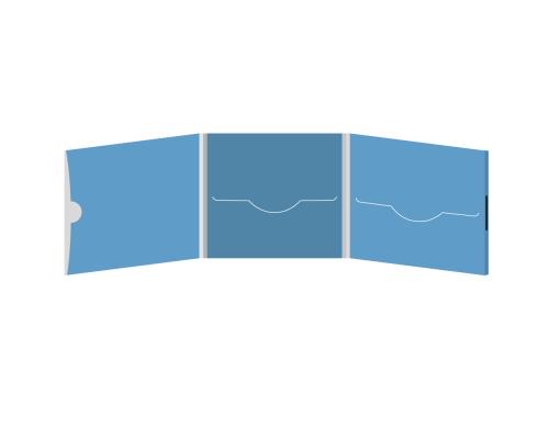 DigiFile CD 6 полос 2 прорези с рукавом для буклета и вырезом под палец (внешний) (слева) на магните
