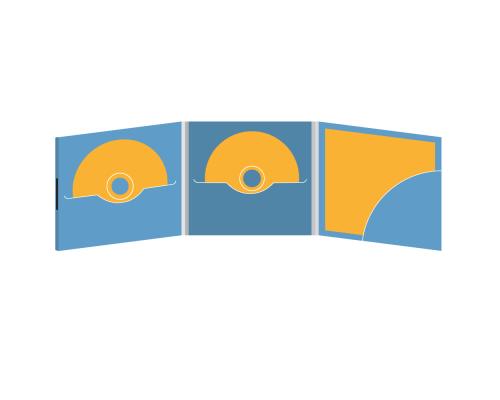 DigiFile CD 6 полос 2 прорези с карманом для буклета (скругленный) (справа) на магните