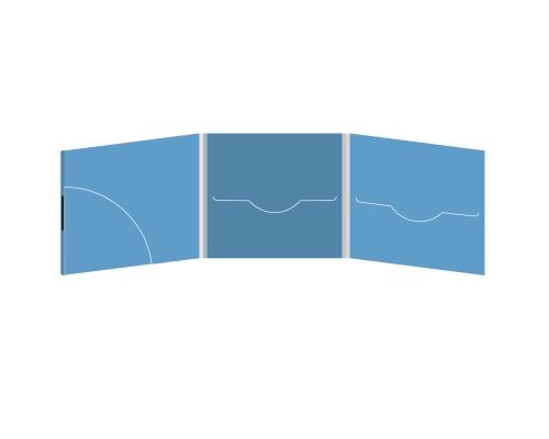 DigiFile CD 6 полос 2 прорези с карманом для буклета (скругленный) (слева) на магните