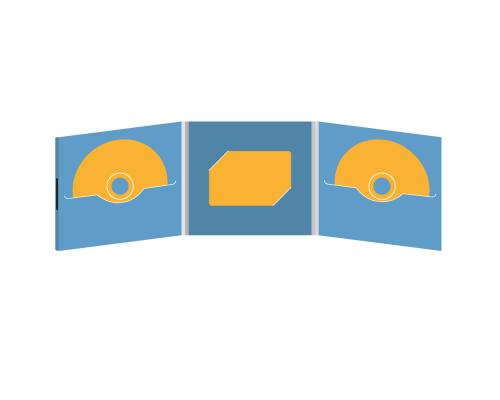 DigiFile CD 6 полос 2 прорези с вырезом под визитку (в центре) на магните