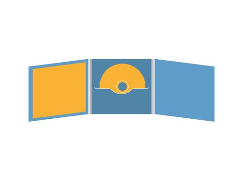DigiFile CD 6 полос 1 прорезь (в центре) с буклетом (вклеенным) (слева)