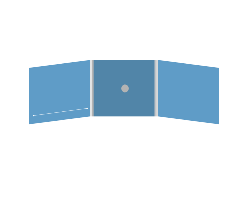 DigiFix CD 6 полос 1 спайдер (в центре) с прорезью (слева)