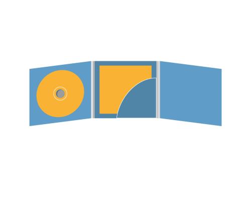 DigiFix CD 6 полос 1 спайдер (слева) с карманом для буклета (скругленный) (справа)