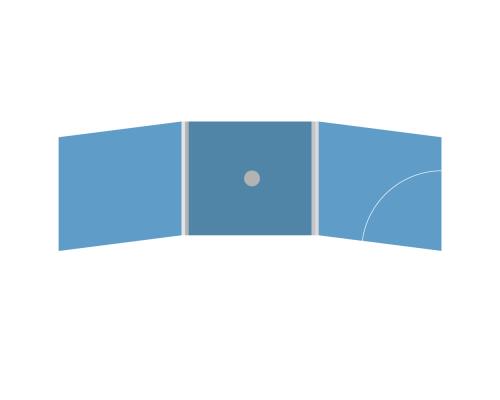 DigiFix CD 6 полос 1 спайдер (в центре) с карманом для буклета (скругленный, справа)