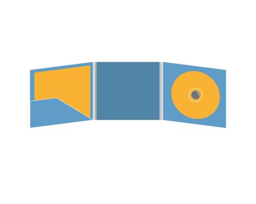 DigiFix CD 6 полос 1 спайдер (справа) с карманом для буклета (слева)