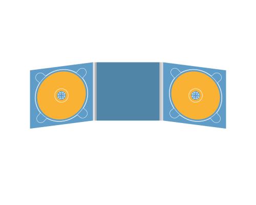 Digipack CD 6 полос 2 трея (слева / справа)