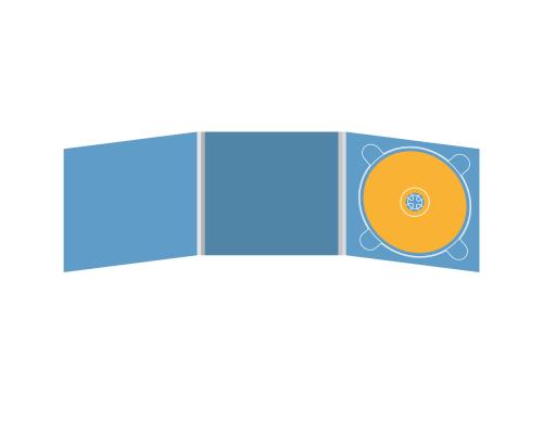 Digipack CD 6 полос 1 трей (справа)