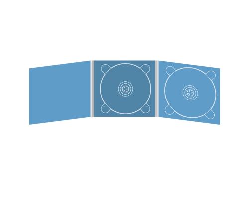Digipack CD 6 полос 2 трея (центр / справа)