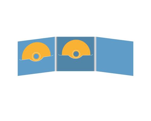 DigiFile CD 6 полос 2 прорези (в центре + слева)
