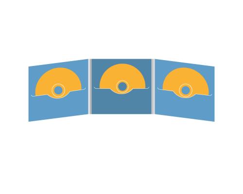 DigiFile CD 6 полос 3 прорези