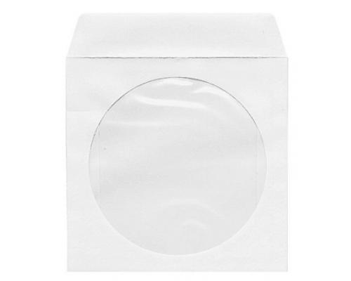 Бумажный Конверт белый с окном с силиконом