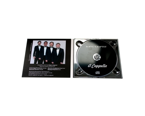 Диджипак CD 4 полосы 1 трей (справа), ХОРУС-КВАРТЕТ - A Cappella