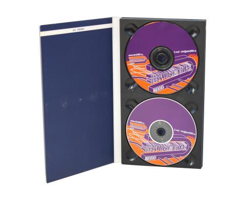 Диджипак CD 4 полосы 2 трея. Prin