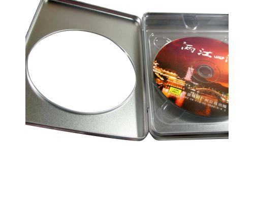 Tin Box DVD прямоугольный серебряный с окном