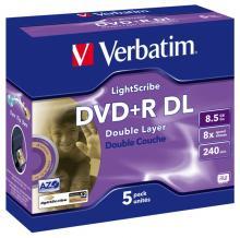 Двухслойные диски 8x DVD+R DL, сертифицированные по технологии LightScribe