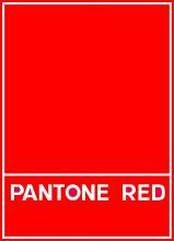 Самые красные цвета PANTONE в полиграфии и шелкографии